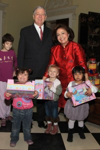 TRH Crown Prince Alexander II and Crown Princess Katherine with children during Christmas receptions