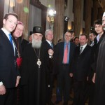 HRH Prince Philip, HRH Crown Prince Alexander II and His Holiness the Patriarch of Serbia Irinej with the representatives of religious communities of Serbia