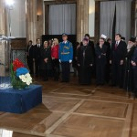 Their Royal Highnesses and His Holiness the Patriarch of Serbia Irinej, with the state officials at the formal reception hosted by the President of Serbia.