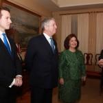 HRH Prince Philipe, HRH Crown Prince Alexander II, HRH Crown Princess Katherine and Mr. Milos Milosevic, Mayor of Sabac