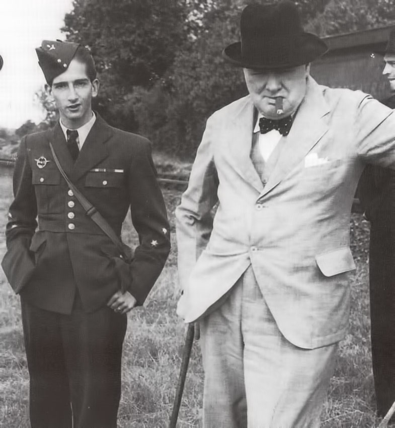 King Peter II and Winston Churchill, 4 July 1941, Folkston