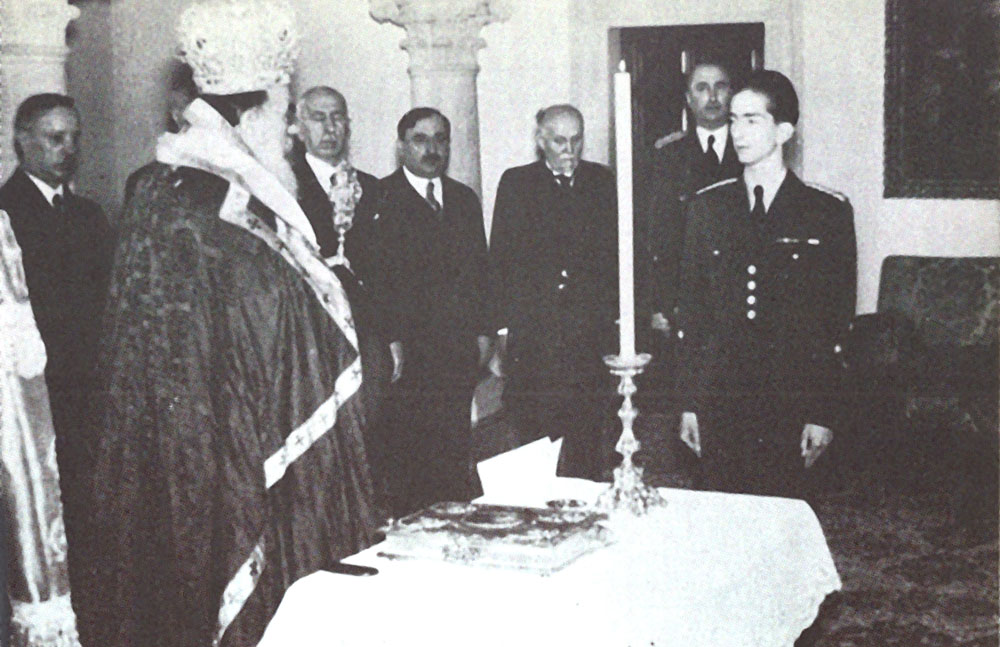 King Peter II takes his oath, 28 March 1941