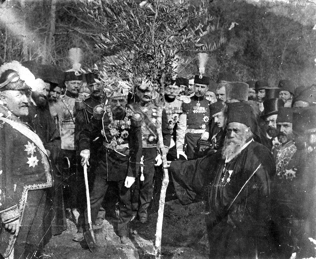 King Peter I, Hilandar, 1910