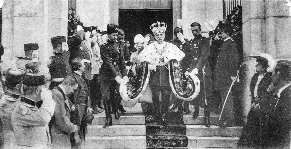 Coronation of King Peter I, the Cathedral Church of St.Michael the Archangel, 1904.