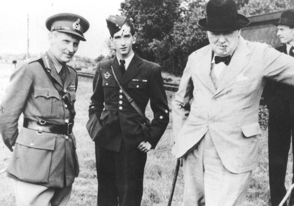 Marshall Montgomery, King Peter II and Winston Churchill, 4 July 1941, Folkston