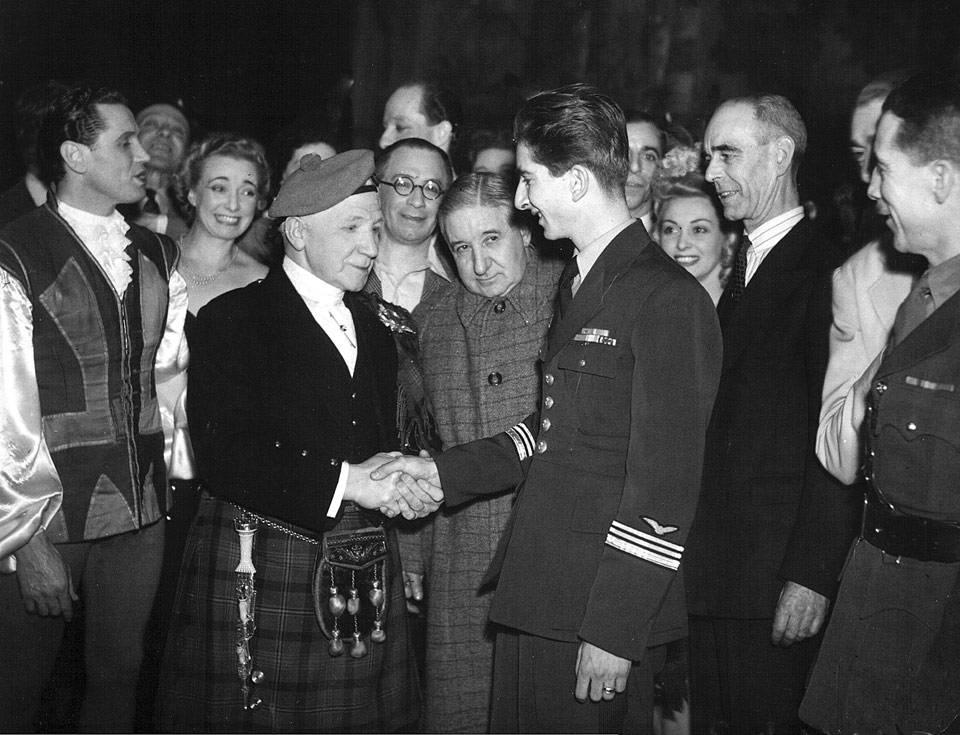 HM King Peter II visiting Glasgow 1943
