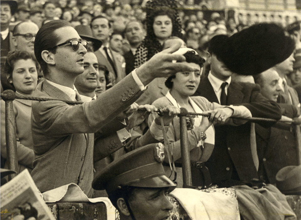 At a corrida in Seville, 1959