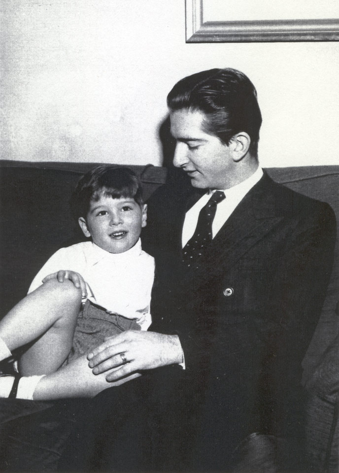 HM King Peter II with his son, HRH Crown Prince Alexander