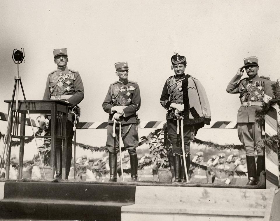 HM King Alexander I, HRH Prince Arsen, HRH Prince Paul
