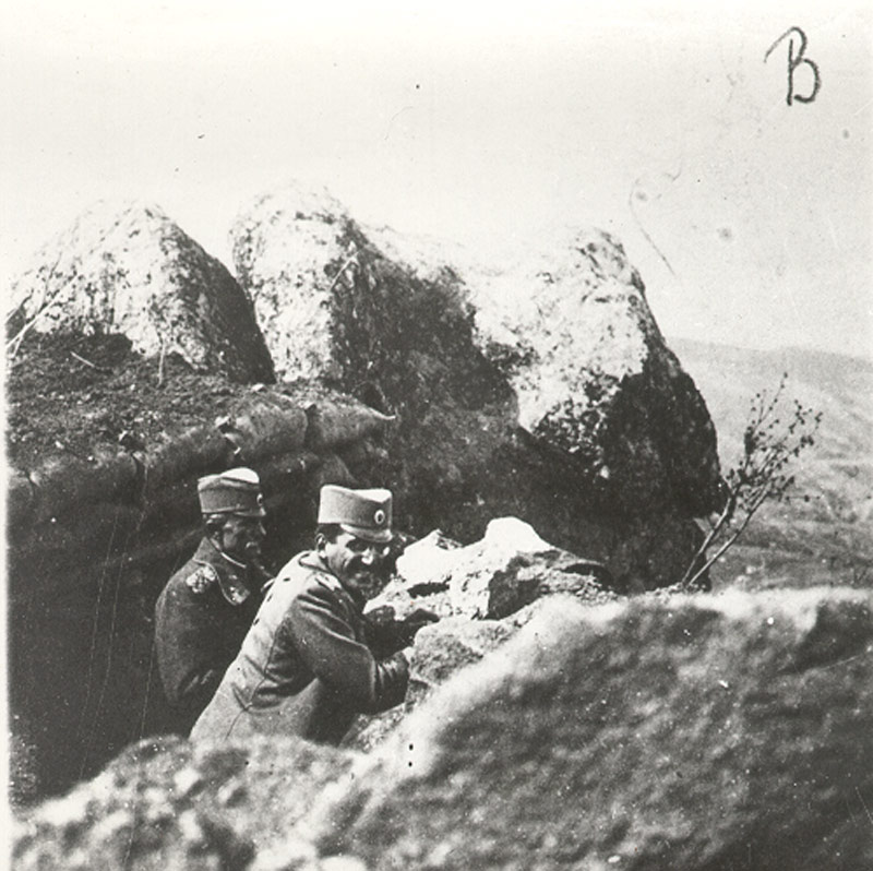 HRH Regent Alexander in the trenches on the Thessaloniki Front