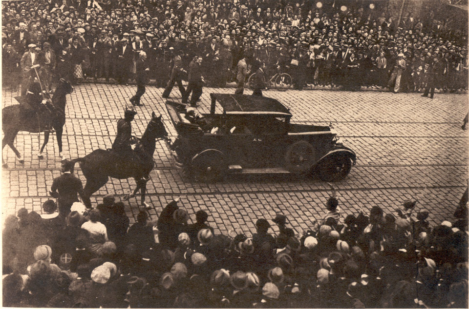 HM King Alexander I and HE Mr Jean Louis Barthou in Marseilles, immediately before the assassination, 9 October 1934