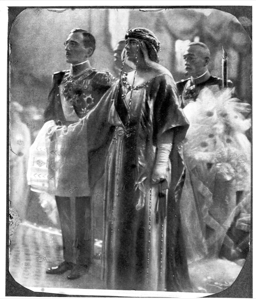 HM. King Alexander I and HM Queen Marija at the wedding on June 8, 1922, at the Cathedral Church of St. Michael the Archangel in Belgrade