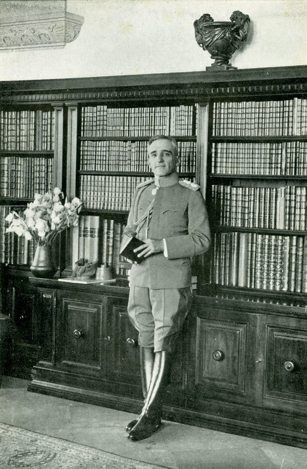 HM King Alexander I in the Royal Palace's Library