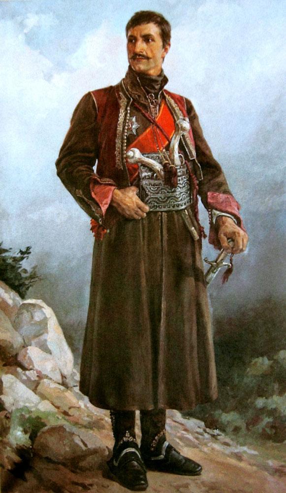 The Supreme Leader Karadjordje in the iconic black General's dolaman