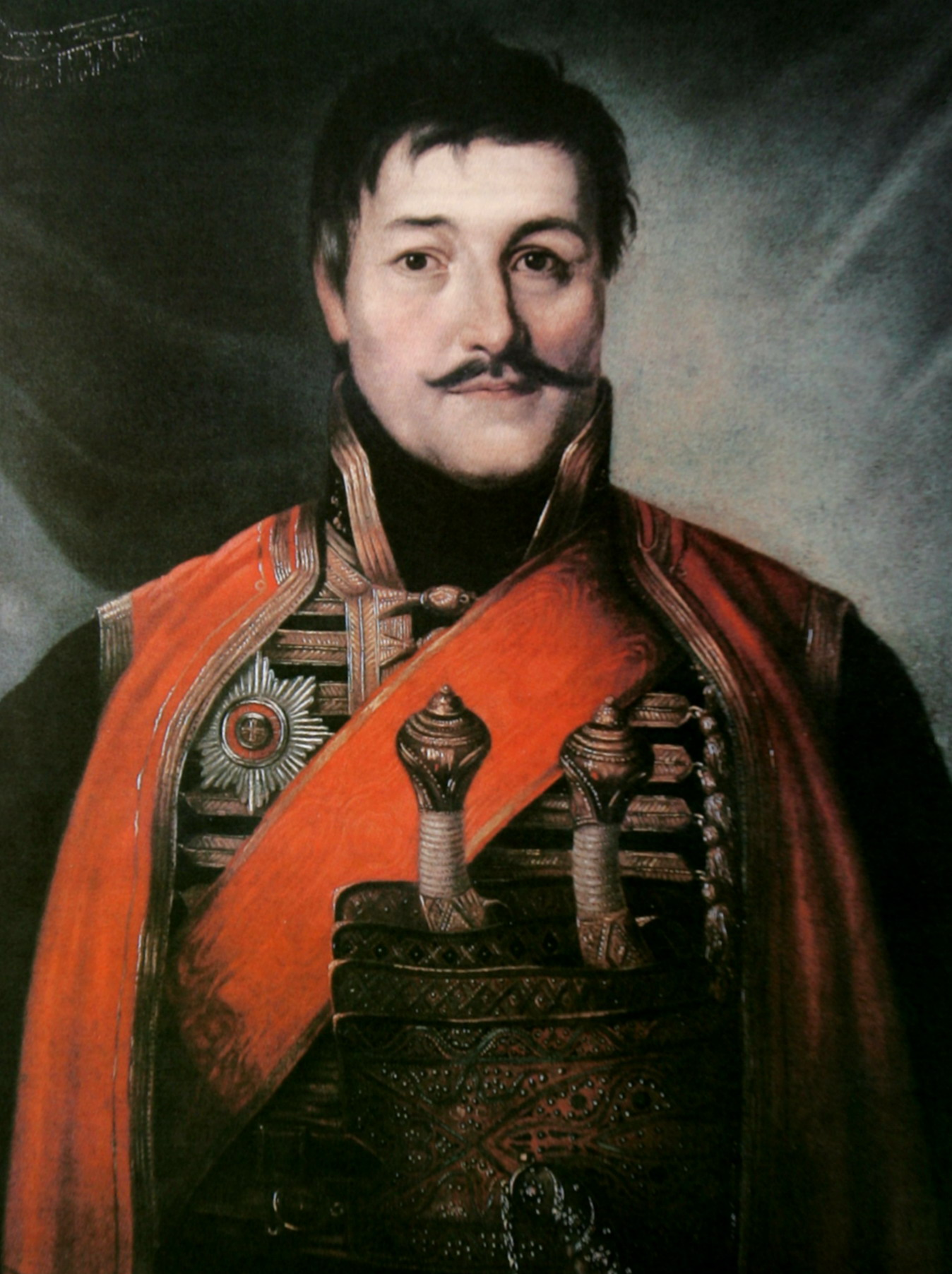 Supreme Leader Karadjordje, oil on canvas, 1816