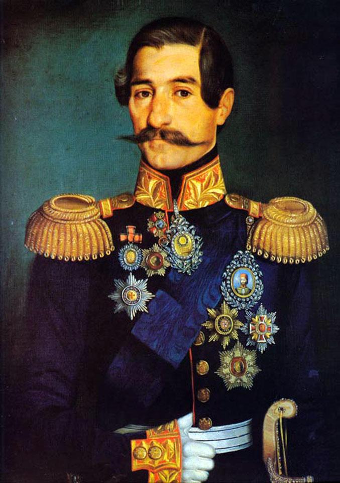 Prince Alexander Karadjordjevic, oil on canvas
