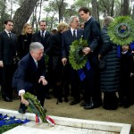 HRH Crown Prince Alexander II lays wreath on the tomb of HM King Paul of the Hellenes, commemorating the 50 years of his passing, Tatoi cemetery, Athens, March 6, 2014.
