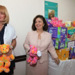 """HRH Crown Princess Katherine and Prof. Dr Snezana Rakic, the director of the GOC """"Narodni Front"""" visiting the mothers and infants, for whom Crown Princess Katherine prepared special gifts"""