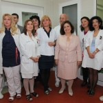 """HRH Crown Princess Katherine with the doctors and nurses at the GOC """"Narodni Front"""" in Belgrade"""