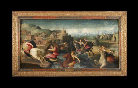 Cloeila's Flight, Domenico di Pace Beccafumi, c.1520