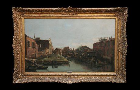 Canal in Venice, Giovanni Antonio Canaletto, 18ct