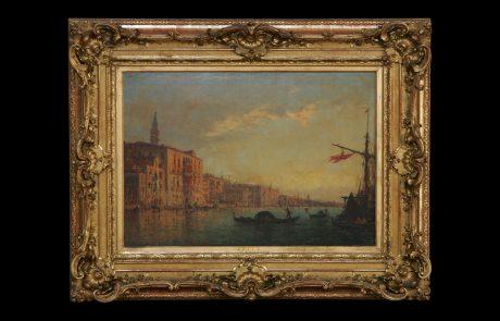 Canal Grande in Venice, Felix Ziem, 19ct