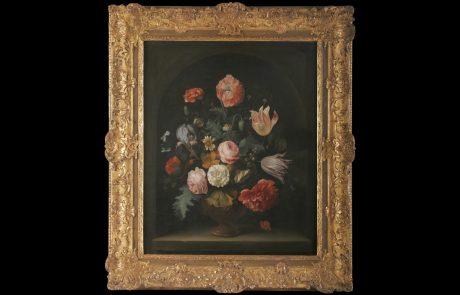 Vase with Flowers, Abraham Mignon, 17ct