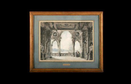 Loggia of an Imaginary Palace, Richard Parkes Bonington, 18ct