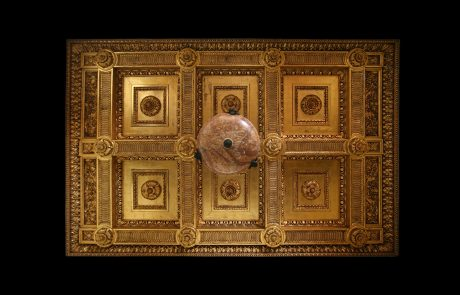 The Royal Palace's Golden Salon, details on the ceiling by Nikolai Krasnov