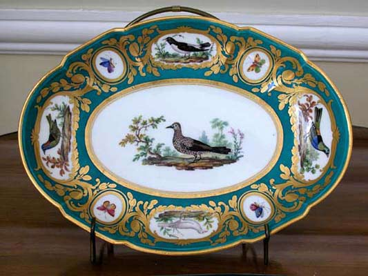 A plate from the Royal Porcelain Manufactory in Sevre