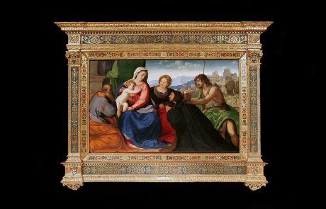 Holy Family with St. John, St. Catherine and Donor, Jacopo Negretty dett. Palma il Vecchio, c. 1526