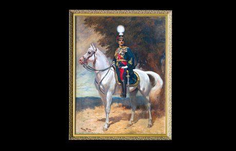 Portret Nj.V. Kralja Aleksandra I Karađorđevića na konju, Žorž Berten Skot, 1924.