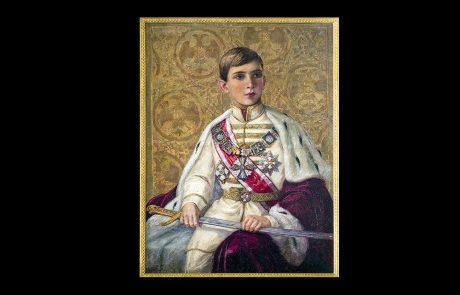 Portret Nj.V. Kralja Petra II Karađorevića, nepoznati autor prema nacrtu Tomislava Krizmana, oko 1935.