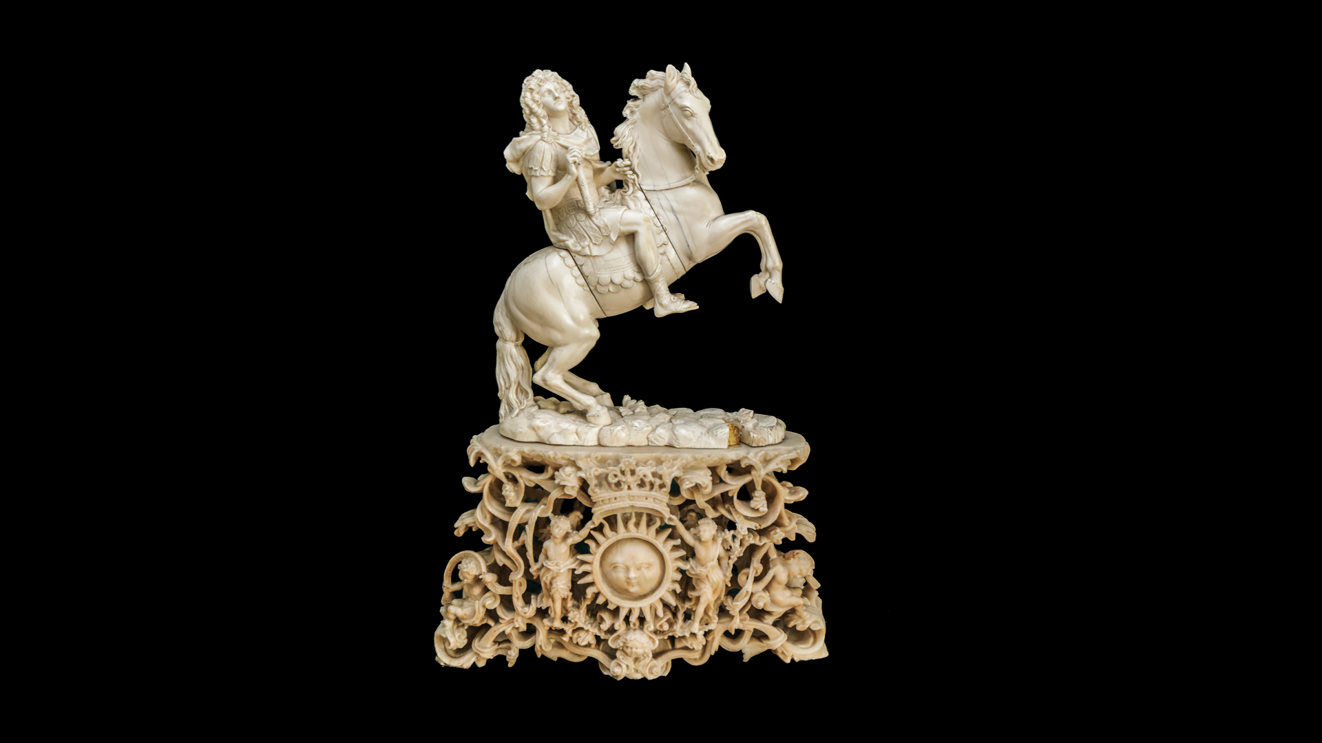 Louis XIV on a horse, 17th century
