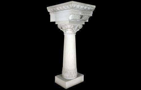 Byzantine style pillar designed by Nikolai Krasnov
