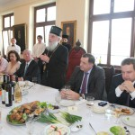 HRH Crown Princess Katherine, HRH Crown Prince Alexander, His Holiness Serbian Patriarch Irinej, HE Mr. Milorad Dodik, President of the Republic of Srpska and HE Mr. Ivica Dacic, Minister of Foreign Affairs in the Government of Serbia