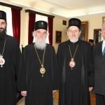 His Grace Bishop Arsenije, His Holiness Serbian Patriarch Irinej, His Grace Bishop of Sabac Lavrentije and HRH Crown Prince Alexander