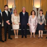 HRH Prince Philip, HRH Hereditary Prince Peter, Mrs. Alison Andrews, the daughter of the Royal couple, HRH Crown Prince Alexander, HRH Crown Princess Katherine, HE Mrs. Christine Moro, Ambassador of the Republic of France and HRH Prince Alexander
