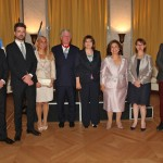 HRH Prince Philip, HRH Hereditary Prince Peter, Mrs. Alison Andrews, the daughter of the Royal couple, HRH Prince Alexander, HE Mrs. Maja Gojkovic, Speaker of the National Parliament of Serbia, HRH Crown Princess Katherine, HE Mrs. Christine Moro, Ambassador of the Republic of France and HRH Prince Alexander