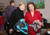 Mrs Kathy Fanslow, President of the Lifeline Chicago Humanitarian Organization and HRH Crown Princess Katherine
