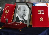 Medals at the catafalque of late Prince Alexander