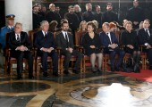 From left to right: HE Mr Tomislav Nikolic, president of Serbia, HRH Crown Prince Alexander, HRH Hereditary Prince Peter, HRH Crown Princess Katherine, HRH Prince Michael, HRH Princess Barbara, HRH Prince Dusan