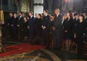 From left to right: HE Mr Tomislav Nikolic, president of Serbia, HRH Crown Prince Alexander, HRH Hereditary Prince Peter, HRH Crown Princess Katherine, HRH Prince Michael, HRH Princess Barbara, HRH Prince Dusan, HRH Prince Serge, HRH Princess Eleonora and HRH Princess Elizabeth