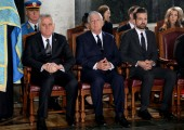 HE Mr Tomislav Nikolic, president of Serbia, HRH Crown Prince Alexander and HRH Hereditary Prince Peter