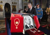 HE Mr Tomislav Nikolic, president of Serbia near the catafalque of late Prince Alexander