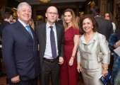 HRH Crown Prince Alexander and Crown Princess Katherine with Serbian Ambassador to the United Kingdom HE Mr Ognjen Pribicevic with spouse