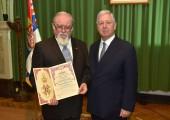 Г-дин Драгомир Ацовић, председавајући Крунског савета и Њ.К.В. Престолонаследник Александар