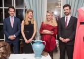 TRH's children HRH Prince Philip, Alison and HRH Hereditary Prince Peter, with Danica Marinkovic