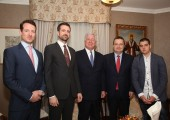 TRH Prince Philip, Prince Peter, Crown Prince Alexander, Mr. Ivica Dačić, First Vice President and Minister of Foreign Affairs of the Republic of Serbia with his son Luka Dacic