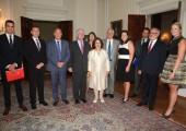 Њихова Краљевска Височанства Престолонаследник Александар и Принцеза Катарина са партнерима и говорницима на Белом двору